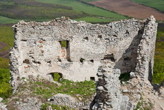 Pared del castillo de la ruina Fotografía de archivo libre de regalías