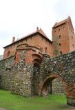 Pared del castillo de Trakai de la isla Trakai en Lituania Fotografía de archivo libre de regalías