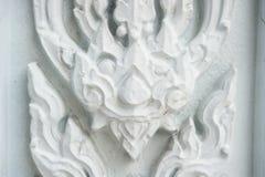 Pared del cemento con la pintura tailandesa Fotografía de archivo libre de regalías