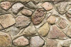 Pared del cemento con las piedras grandes Imagenes de archivo