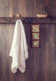 Pared del cuarto de baño Imagen de archivo libre de regalías