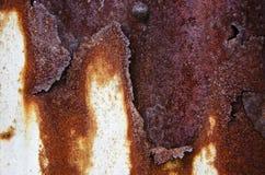 Pared del daño del metal Foto de archivo libre de regalías