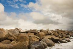 Pared del detenedor de la roca Fotos de archivo