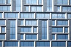 Pared del edificio de oficinas moderno del vidrio y del metal en estilo del techno Fotografía de archivo libre de regalías