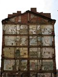 Pared del edificio ruinoso fotografía de archivo libre de regalías