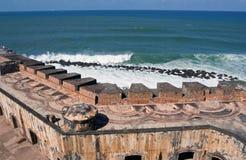 Pared del EL Morro Imagen de archivo libre de regalías