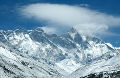 Pared del este del montaje Everest Imagen de archivo