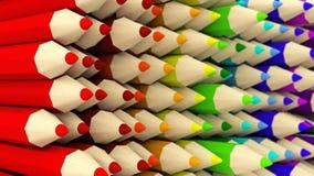 Pared del fondo coloreado mitad-dado vuelta de la pendiente de los lápices Imágenes de archivo libres de regalías