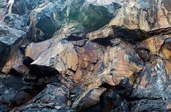 Pared del fondo de las piedras de la roca Imagen de archivo libre de regalías