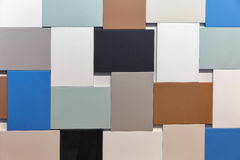 Pared del fondo multicolor de los rectángulos Imágenes de archivo libres de regalías