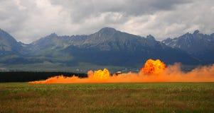 Pared del fuego Imagen de archivo libre de regalías
