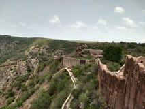 Pared del fuerte de Nahargarh Fotos de archivo libres de regalías
