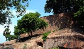 Pared del fuerte del tirumayam Foto de archivo libre de regalías