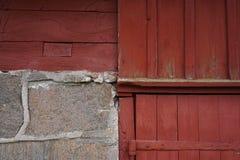 Pared del granero, métodos de la arquitectura Fotos de archivo