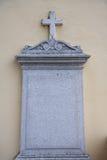 Pared del granito de la piedra sepulcral Foto de archivo libre de regalías