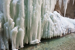 Pared del hielo Foto de archivo libre de regalías
