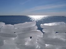 Pared del hielo Imagen de archivo libre de regalías