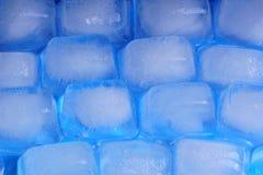 Pared del hielo del hombre Fotografía de archivo