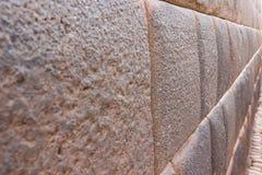 Pared del inca pefectly alineada Imagen de archivo libre de regalías