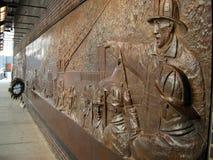Pared del monumento de FDNY Fotografía de archivo