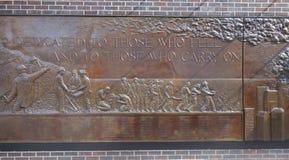 Pared del monumento de FDNY Imagen de archivo