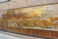 Pared del monumento de FDNY Imagenes de archivo