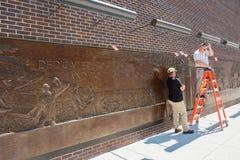 Pared del monumento de NYC FDNY Fotografía de archivo