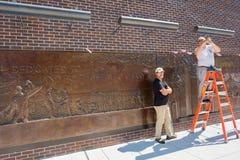 Pared del monumento de NYC FDNY Foto de archivo libre de regalías