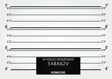Pared del mugshot de la policía Imagenes de archivo