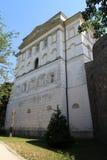 Pared del Pannonhalma benedictino Archabbey que construye Hungría Foto de archivo libre de regalías