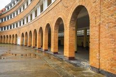 Pared del profesor College de Dalat después de la lluvia Foto de archivo
