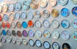 Pared del reloj Fotos de archivo libres de regalías