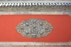 Pared del rojo de China Foto de archivo libre de regalías