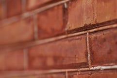 Pared del rojo de ladrillo Imagen de archivo libre de regalías