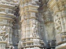 Pared del templo antiguo Imagen de archivo libre de regalías