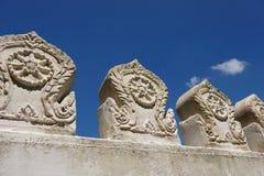 Pared del templo budista imagen de archivo