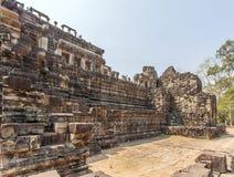 Pared del templo de Phuon de los vagos, Angkor Thom, Siem Reap, Camboya Imagen de archivo libre de regalías