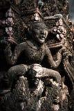 Pared del templo en Bangkok Fotografía de archivo