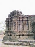Pared del templo hindú antiguo Imágenes de archivo libres de regalías