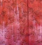 Pared desigual al aire libre vibrante del vintage de la perspectiva del color rojo de ladrillo de Colorfull Foto de archivo libre de regalías