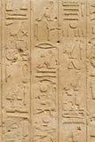 Pared en el templo de Karnak foto de archivo