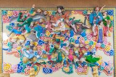 Pared en estilo de China Imágenes de archivo libres de regalías
