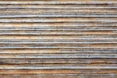 Pared enmaderada de madera Imagen de archivo libre de regalías