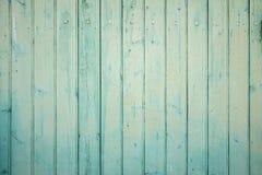 Pared exterior de los tablones de madera de la turquesa Imagenes de archivo