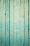 Pared exterior de los tablones de madera de la turquesa Imagen de archivo libre de regalías