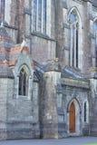 Pared exterior de piedra de la iglesia histórica Fotografía de archivo libre de regalías