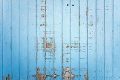 Pared exterior de tablones de madera azules Foto de archivo