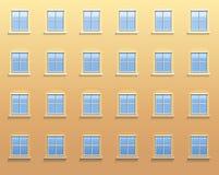 Pared exterior Windows Foto de archivo