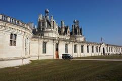 Pared externa del castillo francés del castillo de Chambord Imágenes de archivo libres de regalías