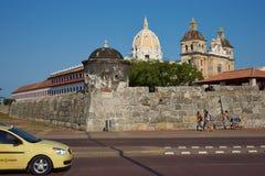 Pared fortificada de Cartagena Foto de archivo libre de regalías